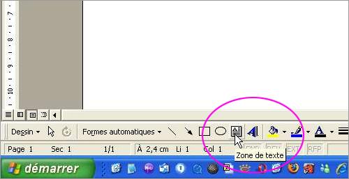 Sur OpenOffice Le Bouton Zone Texte Est Reprsent Par Un T