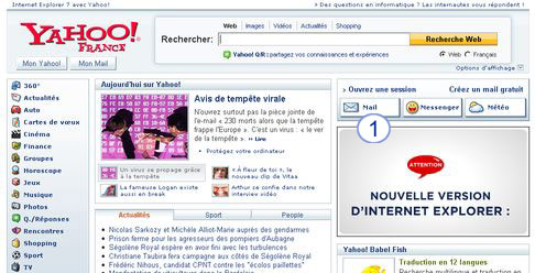 comment s'inscrire yahoo