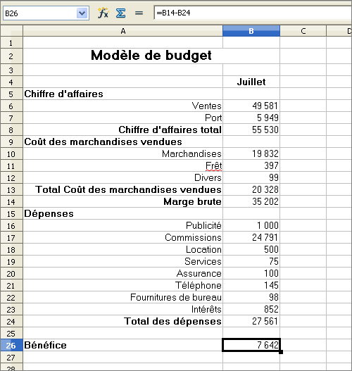 Modele budget previsionnel excel document online - Tableau excel budget travaux ...