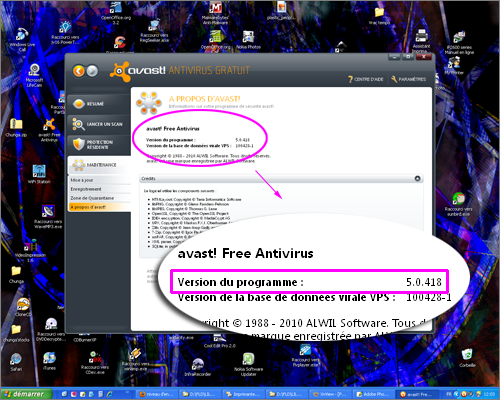 avast anciennes versions