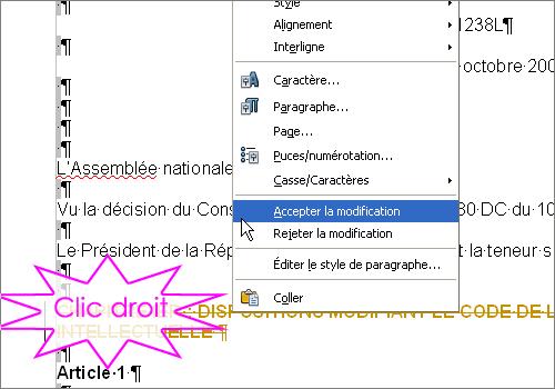 Suivi des modifications dans OpenOffice.