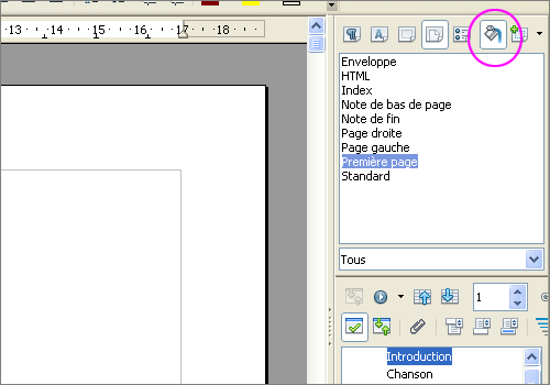 Lilapuce styles ooo 8 couverture - Numerotation des pages sur open office ...