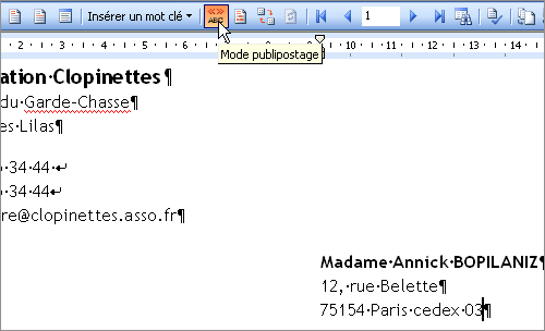 Lilapuce publipostage lettres word 3 for Enveloppe fenetre word
