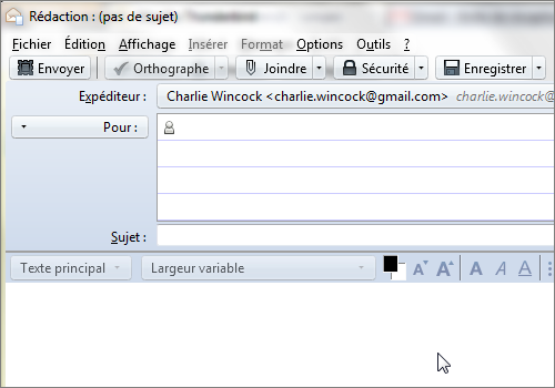 Lilapuce Thunderbird 1 Compte Gmail