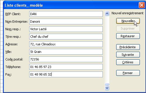 Sample Excel Templates: Exemple Fiche Client Excel