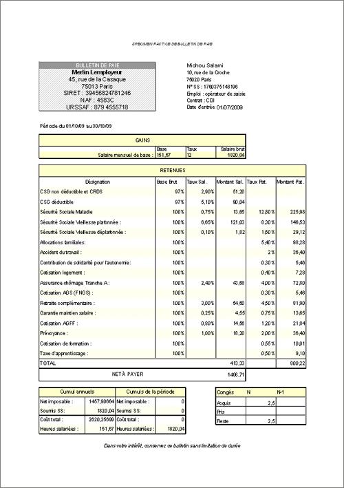 modèle de fiche de paie  Assistantes maternelles  FORUM Les Maternelles